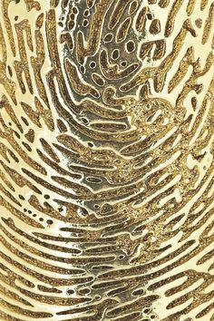 Gold Fingerprint Art