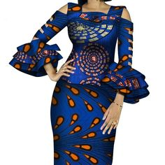 African Print Ruffles Sleeve Tops and Skirt Sets Knee-length clothing – DRESS THE LADIES Couples African Outfits, African Dresses For Women, African Attire, 2 Piece Skirt Set, Style Africain, Fashion Sewing, African Fabric, Ruffle Sleeve, Traditional Outfits