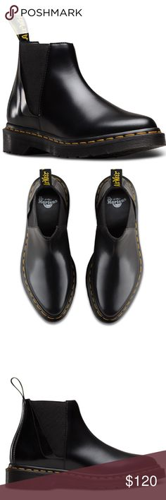 Dr Marten Bianca Smooth boot size 8 Brand new in box.  THIS IS A GOODYEAR-WELTED PRODUCT. THE UPPER AND SOLE ARE HEAT-SEALED AND SEWN TOGETHER, NOT MERELY GLUED LIKE MANY FOOTWEAR CONSTRUCTIONS.  MATERIAL  A TWIST ON THE CLASSIC DR. MARTENS LEATHER: DURABLE, WITH A SMOOTH AND POLISHED FINISH. Dr. Martens Shoes Ankle Boots & Booties