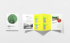 Print with fluorescent spot colour detail by Anagrama for residential property development El Semillero Brochure Design, Flyer Design, Layout Design, Print Design, Web Design, Graphic Design, Editorial Layout, Editorial Design, Property Branding