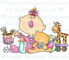 Girl Stuff - Baby Images - Baby - Rubber Stamps - Shop