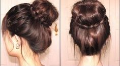 Video: Braided Tips Sock Bun. From How to make your sock bun donut to the finished look. hair-and-beauty-tips-and-how-to-s Pretty Hairstyles, Braided Hairstyles, Braided Updo, Bun Braid, Updo Hairstyle, Bun Updo, Hairstyle Tutorials, Style Hairstyle, Braid Hair