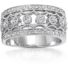 inset diamond rings   Unique Diamond Wedding Bands - Wedding Rings - Zimbio