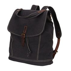 Hynes Eagle Classic Canvas Travel Backpack College Rucksack 28L Gray -- Want additional info? Click on the image.