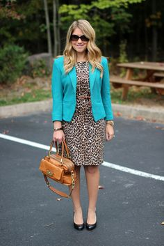 Mix and Match Fashion: Teal & Leopard