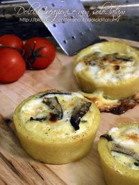 Polenta baskets stuffed with mushrooms and cheese - Humor Culinario Tapas, Wine Recipes, Cooking Recipes, Salty Foods, Best Appetizers, Food Humor, Appetisers, Tortellini, Creative Food