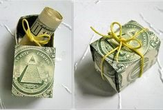 Cash Box Graduation Gift. Nothing hits the graduate more that this fantastic money in money style. Fold the bills into a box style and roll one bill into the diploma style and tie a cute twine. Place the cash diploma into the cash box. Just so fabulous! http://hative.com/graduation-cash-gifts/
