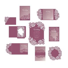Highly recommeded before purcasing try test file: www.dropbox.com/sh/180w8ywojydxe2j/AAD9JBIBg2yOKBte-PFX-fHEa?dl=0 This laser cut SVG invitation card template set was created using my original hand drawn designs. Perfect for Baby Showers, Birthdays, Christening, Weddings,