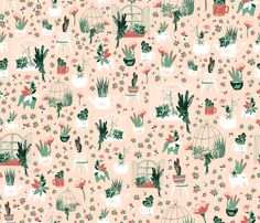 Succulents fabric by patriciasodre on Spoonflower - custom fabric