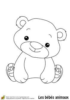 Coloriage bébé ours - Hugolescargot.com