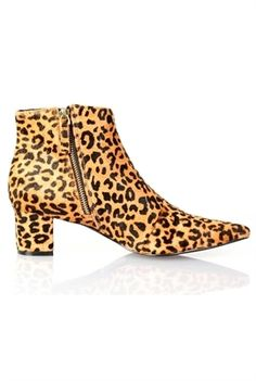 leopard ankle boots