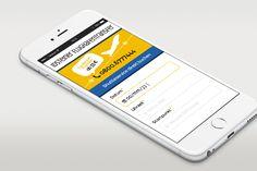 Screendesign und grafische Gestaltung einer App für einen Transportunternehmer auf Basis von WordPress