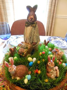 Easter Centerpiece- except use long rectangular basket