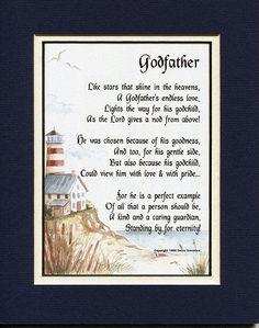 A Gift For A Godfather Poem- Fathers Day gifts for godfather