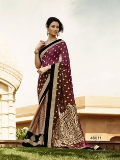 Touch Trends Multicolor Embroidered Saree