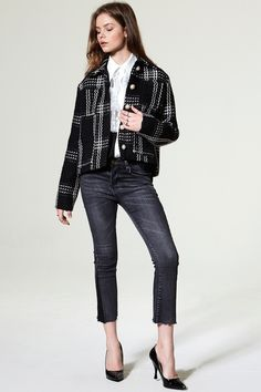 Dena Color Matches Denim Pants Discover the latest fashion trends online at storets.com #hearling Jacket  #Pullover Pleated Dress  #Leather Bustier