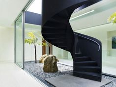 Stairs in Remarkable JKC 1 House in Singapore