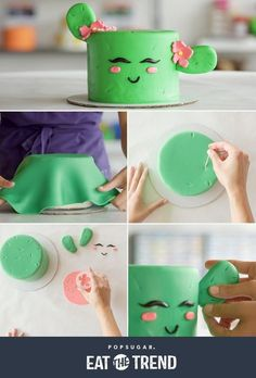 This cute cactus cake is looking sharp!