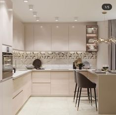 36 Popular Simple Kitchen Decor Ideas You Should Try Kitchen Decor, Kitchen Modular, Kitchen Interior Design Decor, Beige Kitchen, Kitchen Room Design, Modern Kitchen Cabinet Design, Kitchen Furniture Design, Simple Kitchen Design, Kitchen Decor Apartment