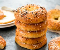 These savory cheesy bagels are keto, low carb, gluten free and wheat flour free. They are just 5 ingredients and easy to make. Step by step photos included!