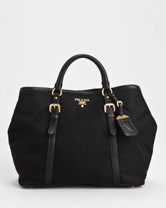 Product Name Brand New Prada Tessuto Vitello Daino Tote Bag at Modnique.com