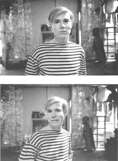 Andy Warhol at The Factory, photographed by Stephen Shore ca 1965-66