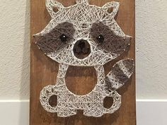 Check out this item in my Etsy shop https://www.etsy.com/listing/591873816/string-art-woodland-raccoon