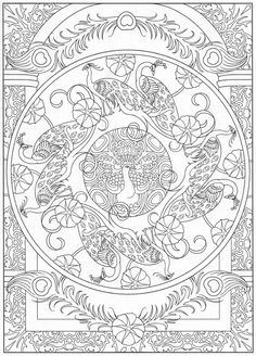 Peacock coloring page, for adults 6/31