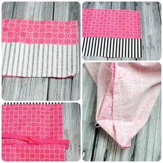 2 kleine tasche nähen diy anleitungen und ideen schritt für schritt tutorial rosa stoff Tutorial Rosa, Bags, Fashion, Bag Tutorials, Pink Fabric, Diy Handbag, Striped Fabrics, Small Bags, Handbags