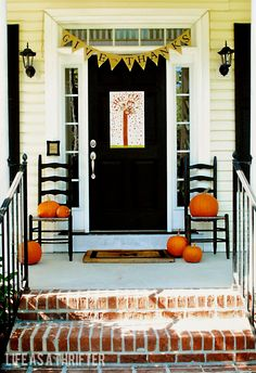 Life as a Thrifter: Fall Porches (from the past)