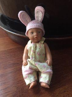 ** mini Baby Born (miniworld) Hasenmütze Anzug Kleidung Latzhose Outfit **