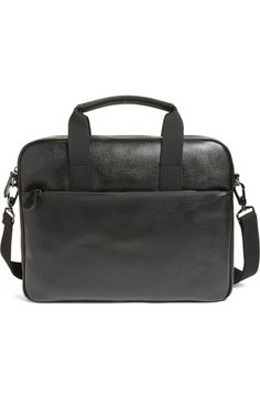 TED BAKER Morcor Leather Briefcase. #tedbaker #bags #shoulder bags #hand bags #lining #leather #cotton #