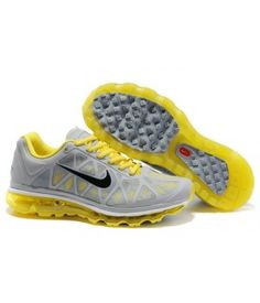 uk availability c59f8 a70d1 Nike air max 2011 mesh gray yellow mens running shoes on sale