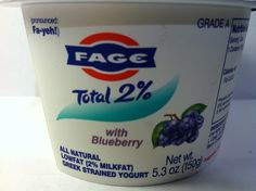Crazy Food Dude Review: Fage Total 2% Greek Yogurt with Blueberry