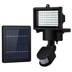 60 LED Lampe Solaire Avec Détecteur De Mouvement Intelligent Lumière  Solaire De Extérieur Étanche IP54 Projecteur Led Solaire Pour Patios,  Jardins,Balcons ...