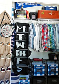 tween boys closet - organization tips