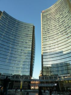 Luxury apartments and office buildings at Porta Nuova, Milan. Architectural design project by Gea Aulenti.