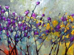 jill van sickle - 30x40 1200.00  Art, Artwork, Painting, colorful, decor, floral, botanical