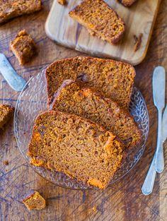 Cinnamon and Spice Sweet Potato Bread averiecooks.com