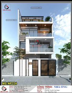 3 Storey House Design, Bungalow House Design, House Front Design, Small House Design, Modern Bungalow Exterior, Modern Exterior House Designs, Dream House Exterior, Exterior Design, Best Modern House Design