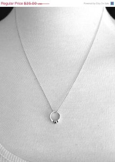 On Sale Promise Ring Necklace Sterling Silver by GirlBurkeStudios, $22.50