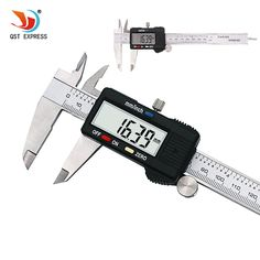 "QSTEXPRESS 6"" 150 mm Digital Vernier Caliper Micrometer Guage Widescreen Electronic Accurately Measuring Steel   Price: 10.61 USD"