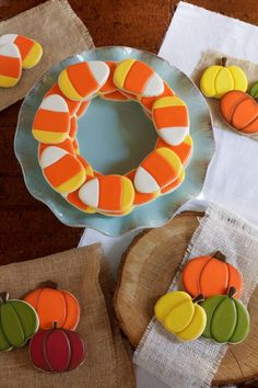 Simple Candy Corn Cookies by www.thebearfootbaker.com