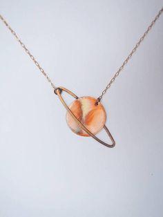 Mini Saturn Necklace (© 2014) //