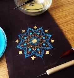 Tattoo Designs Back Mandala - Tattoo Mandala Drawing, Mandala Painting, Mandala Tattoo, Mandala Art, Fabric Painting, Dot Painting, Tattoo Art, Islamic Art Pattern, Pattern Art