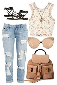 """"""""""" by paigeromano ❤ liked on Polyvore featuring Gucci, Etro, Gianvito Rossi, Linda Farrow and Shaun Leane"""
