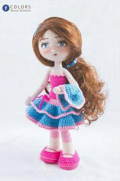 Вяжем! Творим! Чудим!   VK Knitted Dolls, Crochet Dolls, Crochet Hats, Tiny Dolls, New Dolls, Crochet Doll Pattern, Crochet Patterns, Homemade Toys, Doll Tutorial