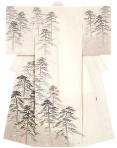 Kimono by Hiroshi Nakamachi (made with traditional kaga yuzen silk-dye technique). Traditional Japanese Kimono, Japanese Geisha, Japanese Art, Japanese Textiles, Japanese Fabric, Textured Wall Panels, Wedding Kimono, Kimono Design, Kimono Pattern
