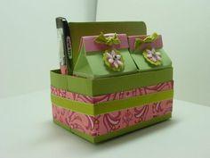 Just Julie B's Stampin' Space: Call Me Crazy!!? Milk Carton Tote Box