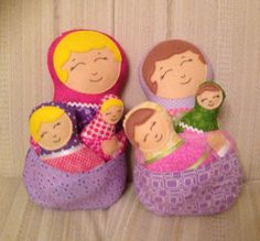 Babushka dolls - pattern by dolls and daydreams